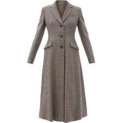 Prada - Prince-of-wales Checked Wool-blend Coat - Womens - Multi found on Bargain Bro UK from Matches UK