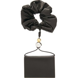 Jil Sander - Scrunchie-handle Leather Wallet - Womens - Black found on MODAPINS from Matches Global for USD $650.00