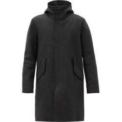 Harris Wharf London - Single-breasted Pressed-wool Coat - Mens - Black found on MODAPINS from MATCHESFASHION.COM - AU for USD $824.22