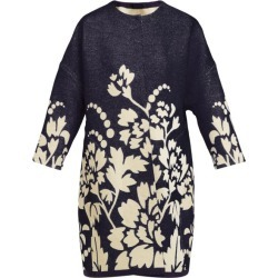 Marit Ilison - Reversible Floral-intarsia Cotton Coat - Womens - Navy Multi found on Bargain Bro India from Matches Global for $411.00