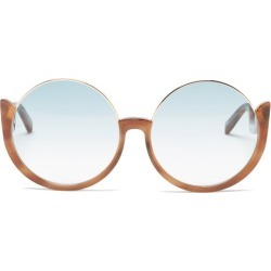 Linda Farrow - Florence Oversized Round Acetate Sunglasses - Womens - Blue found on MODAPINS from Matches UK for USD $558.36