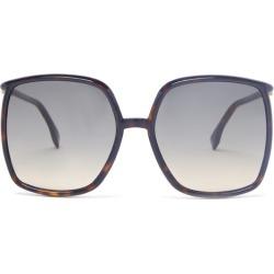 Fendi - Oversized Square Acetate Sunglasses - Womens - Tortoiseshell found on Bargain Bro UK from Matches UK