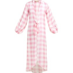 Adriana Degreas - Tie Waist Gingham Robe - Womens - Pink found on MODAPINS from Matches UK for USD $1293.31