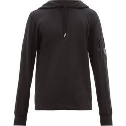 C.p. Company - Lens Sleeve Cotton Hooded Sweatshirt - Mens - Black found on Bargain Bro UK from Matches UK