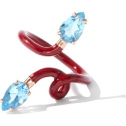 Bea Bongiasca - Double Vine Topaz, 9kt Gold & Enamel Ring - Womens - Red Multi found on MODAPINS from Matches UK for USD $933.67