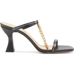 JW Anderson - Crystal-embellished Square-toe Leather Sandals - Womens - Black found on MODAPINS from Matches UK for USD $785.82