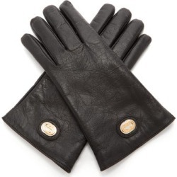 Gucci - GG Plaque Craquelé-leather Gloves - Mens - Black found on Bargain Bro UK from Matches UK