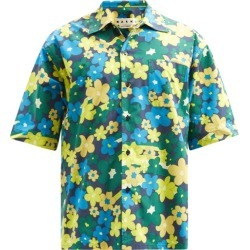 Marni - Short-sleeved Floral-print Cotton-poplin Shirt - Mens - Blue Multi found on Bargain Bro UK from Matches UK