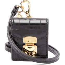 Miu Miu - Crocodile-effect Leather Earphone Case - Womens - Black found on Bargain Bro UK from Matches UK