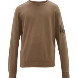 C.p. Company - Lens Embellished Cotton Jersey Sweatshirt - Mens - Khaki found on Bargain Bro UK from Matches UK