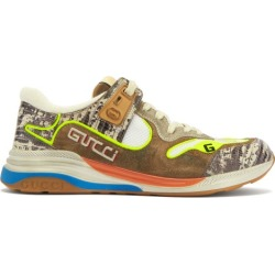 Gucci - Ultrapace Distressed Leather And Suede Trainers - Mens - Beige found on Bargain Bro UK from Matches UK
