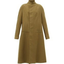 Haider Ackermann - Proud Stand-collar Wool-twill Single-breasted Coat - Womens - Brown found on MODAPINS from MATCHESFASHION.COM - AU for USD $1944.45