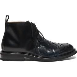 Bottega Veneta - Intrecciato Leather Desert Boots - Mens - Black found on Bargain Bro UK from Matches UK