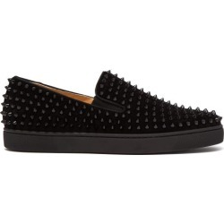 Christian Louboutin - Baskets en daim à ornements picots Roller-Boat found on Bargain Bro Philippines from matchesfashion.com fr for $1137.50