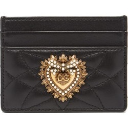 Dolce & Gabbana - Devotion Quilted-leather Cardholder - Womens - Black found on Bargain Bro UK from Matches UK