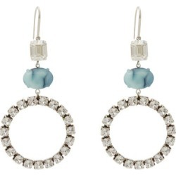 Isabel Marant - Crystal And Stone Drop Earrings - Womens - Blue found on Bargain Bro UK from Matches UK