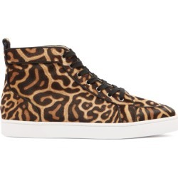 Christian Louboutin - Rantus Orlato High-top Calf-hair Trainers - Mens - Black Brown found on Bargain Bro Philippines from Matches Global for $1295.00