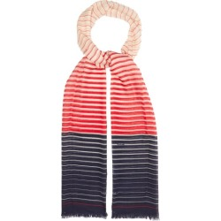Valentino Garavani - Striped Cashmere-blend Scarf - Womens - Red Navy found on Bargain Bro Philippines from Matches Global for $465.00