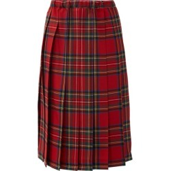 Comme Des Garçons Girl - Tartan Pleated-wool Skirt - Womens - Red found on MODAPINS from Matches UK for USD $656.37