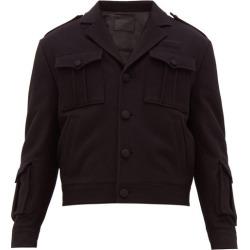 Prada - Patch-pocketed Virgin Wool-felt Jacket - Mens - Black found on Bargain Bro India from MATCHESFASHION.COM - AU for $2339.28