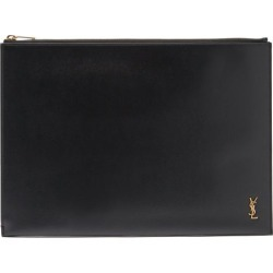 Saint Laurent - Ysl-plaque Large Palmelatto-leather Tablet Pouch - Mens - Black found on Bargain Bro UK from Matches UK