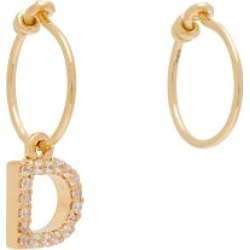 Theodora Warre - Mismatched D-charm Gold-plated Hoop Earrings - Womens - Gold found on Bargain Bro from Matches UK for £85
