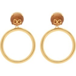 Dolce & Gabbana - Dg-logo Hoop-pendant Clip Earrings - Womens - Gold found on Bargain Bro from Matches UK for £578