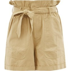 Mes Demoiselles - Croft Paperbag-waist Cotton Shorts - Womens - Beige found on MODAPINS from MATCHESFASHION.COM - AU for USD $175.74