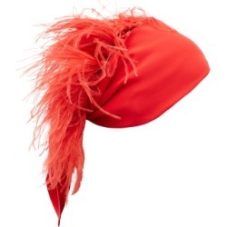 Valentino Garavani - Feather-embellished Silk-georgette Headscarf - Womens - Red found on Bargain Bro Philippines from Matches Global for $717.00