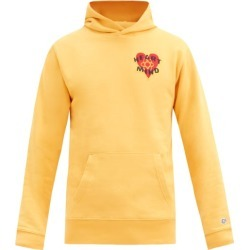 Billionaire Boys Club - Felted-patch Cotton-jersey Hooded Sweatshirt - Mens - Yellow found on MODAPINS from MATCHESFASHION.COM - AU for USD $205.08