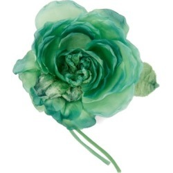 Alessandra Rich - Peony Silk Brooch - Womens - Green found on MODAPINS from Matches Global for USD $240.00
