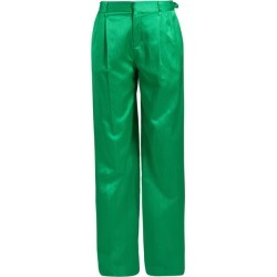 Attico - High Waist Wide Leg Satin Trousers - Womens - Green found on MODAPINS from MATCHESFASHION.COM - AU for USD $248.09