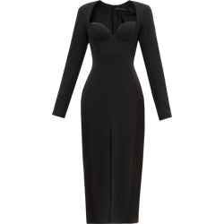 David Koma - Sweetheart-neckline Cady Dress - Womens - Black found on MODAPINS from Matches Global for USD $1035.00