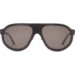 L.g.r Sunglasses - Comoros Aviator Acetate Sunglasses - Mens - Black found on Bargain Bro from Matches Global for USD $283.48