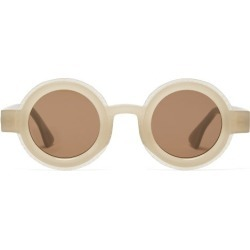 Kuboraum - Lunettes de soleil rondes en acétate mat found on MODAPINS from matchesfashion.com fr for USD $540.80