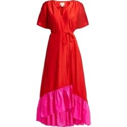 Anaak - Akari Silk Satin Wrap Dress - Womens - Red Multi found on MODAPINS from Matches UK for USD $698.69