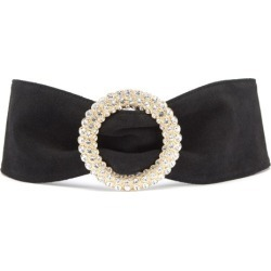 Alessandra Rich - Crystal-buckle Suede Belt - Womens - Black found on MODAPINS from MATCHESFASHION.COM - AU for USD $579.65