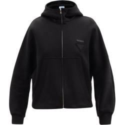 Prada - Triangle Logo-patch Cotton-blend Hooded Sweatshirt - Womens - Black found on Bargain Bro UK from Matches UK