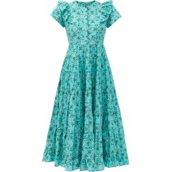 Cefinn - Sawyer Floral-print Organic-cotton Midi Dress - Womens - Green found on Bargain Bro India from MATCHESFASHION.COM - AU for $283.86