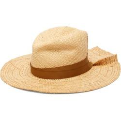 Lola Hats - First Aid Pleated-brim Raffia Hat - Womens - Beige