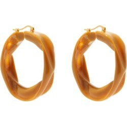 Jil Sander - Sculpted-resin Hoop Earrings - Womens - Light Brown found on Bargain Bro UK from Matches UK