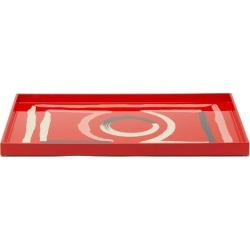 The Lacquer Company - X Luke Edward Hall Etienne Large Lacquer Tray - Red Multi