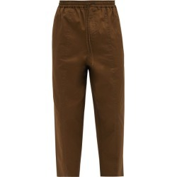 Jil Sander - Drawstring-waist Cropped Cotton-poplin Trousers - Mens - Khaki found on Bargain Bro UK from Matches UK