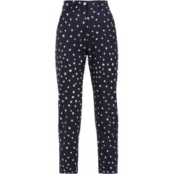 Charles Jeffrey Loverboy - Polka-dot Wool Trousers - Womens - Navy Multi found on Bargain Bro India from Matches Global for $268.00