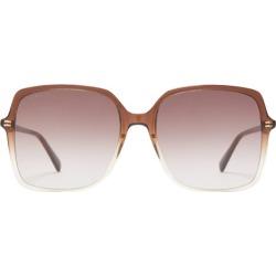 Gucci - Oversized Square Acetate Sunglasses - Womens - Dark Brown