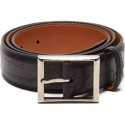 Berluti - Scritto Leather Belt - Mens - Black found on MODAPINS from MATCHESFASHION.COM - AU for USD $621.30