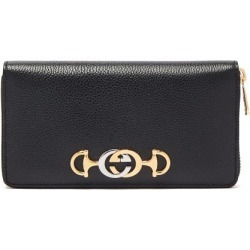 Gucci - Zumi Logo-plaque Grained-leather Wallet - Womens - Black found on Bargain Bro India from Matches Global for $750.00