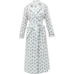 Emilia Wickstead - Alethea Floral-print Cotton Robe - Womens - White Print found on Bargain Bro India from Matches Global for $680.00