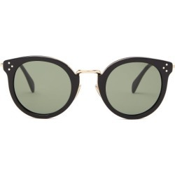 Celine Eyewear - Round Acetate And Metal Sunglasses - Womens - Black found on Bargain Bro UK from Matches UK