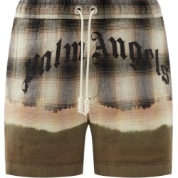 Palm Angels - Logo-print Tie-dye Shorts - Mens - Beige Multi found on MODAPINS from MATCHESFASHION.COM - AU for USD $948.08
